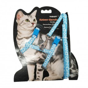 Conjunto Pretal Regulable Estampado Para Gato
