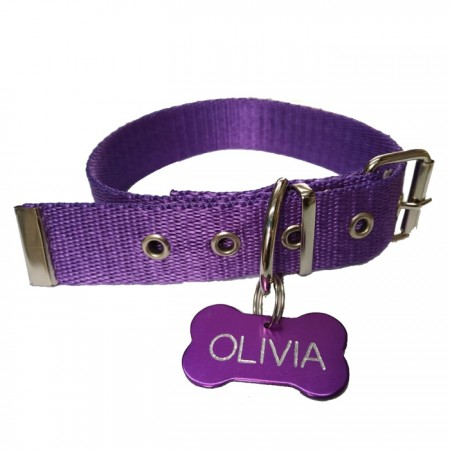 Collar de Polipropileno 20mm x 40cm + Chapita Identificable